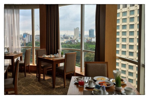 Eetzicht 290416 0818 HCMC, Paradise Saigon Boutique Hotel IMG_7762