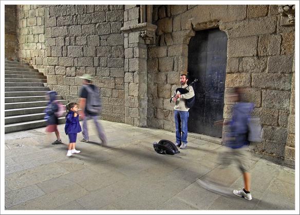 Anton Reixa, Spaanse doedelzakspeler (gaita), Santiago de C. 16.7.09