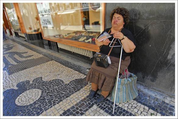 Blinde zangeres Lissabon