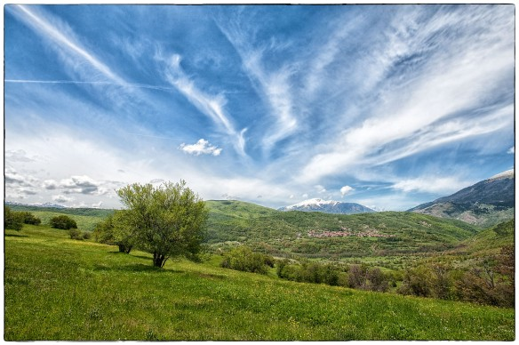 View of the Sharr Mountain range in the Independent Republic of Kosovo | May 2014