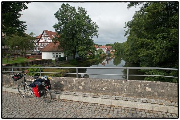 Vakwerkhuizen, typisch voor het grensgebied Thüringen-Beieren-Hessen. En precies langs dit grensgebied liep het IJzeren Gordijn.