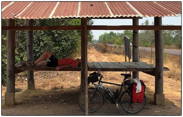 Slapen in schuilhuisje,Laos IMG_7124